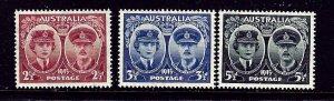 Australia 197-99 MNH 1945 Duke and Duchess of Gloucester