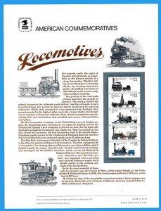 USPS COMMEMORATIVE PANEL #306 LOCOMOTIVES #2366A