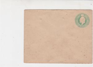 India Vintage Embossed UNUSED Half Anna Stamp Cover Ref 29948