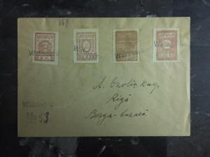 1918 Walmecra Latvia Registered cover To Latvia