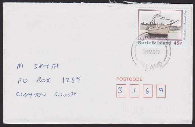 NORFOLK IS 1999 cover to Australia..........................................6508