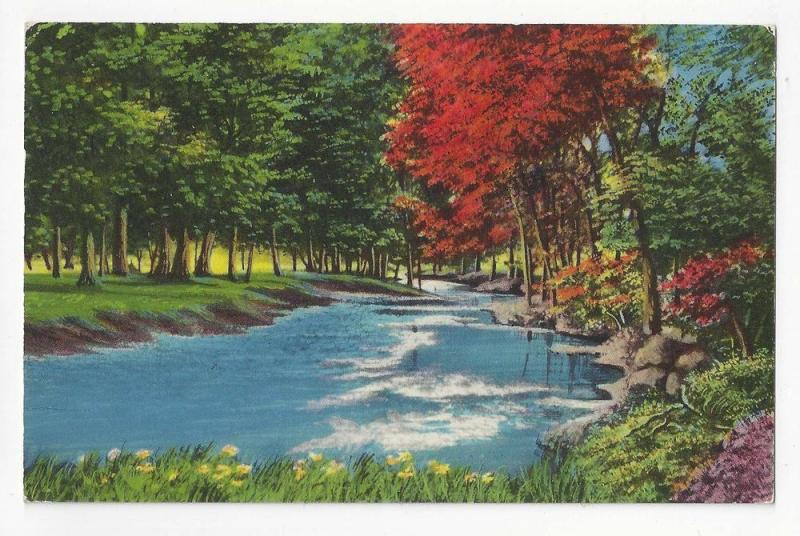 Greetings Frankfort NY Auxiliary Markings Vintage Postcard