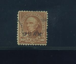 Guam Scott #9 Type 2 RARE Overprint Used Stamp w/2 PF Certs (Stock Guam #9-PF1)