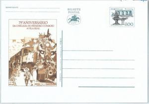 72049  -  PORTUGAL  - POSTAL STATIONERY CARD -   TRAINS History
