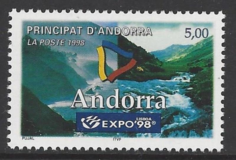 Andorra French 1998 Expo '98 Lisbon VF MNH (497)