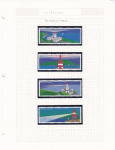 Lighthouse Topical Sets Album Pages Many Different Countries all Complete VF/NH