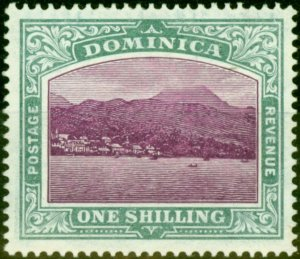 Dominica 1908 2s6d Grey-Green & Maize SG45 Fine Mtd Mint