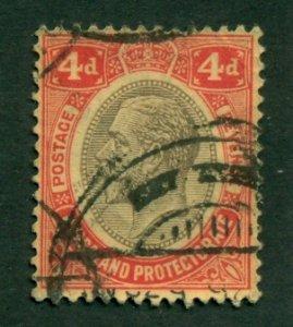 Nyasaland Protectorate 1913 #17 U SCV(2020) = $2.50