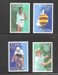 Tonga  (1988)  - Scott # 602 - 606,  MNH    Olympics