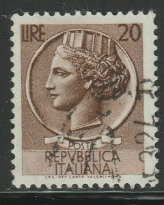 Italy Republic 1953-54 20L Winged Wheel Used A16P52F166