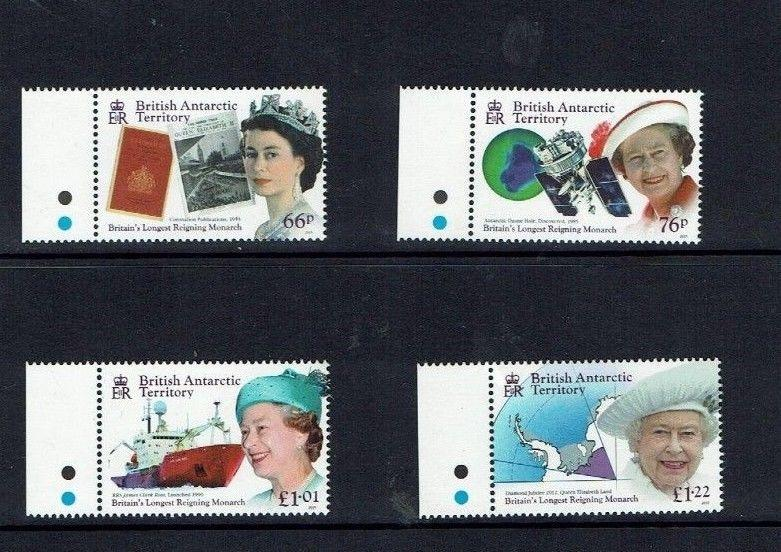 British Antarctic Territory:  2014, Queen Elizabeth ll longest reigning  MNH set