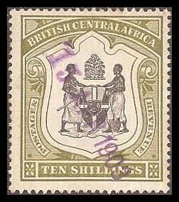 British Central Africa 54 Used VF