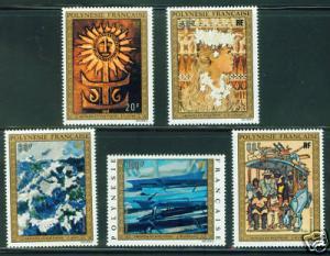 Polynesia Scott C100-4 MNH** Art stamp set 1973 CV $76