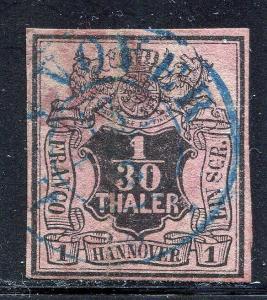 GR Lot 10557 German State HANNOVER 1855 Michel 36 1-30 Thaler -- 1SGR W 2