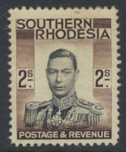 Southern Rhodesia  SG 50  SC# 52  Mint Very Light trace of Hinge   see scans