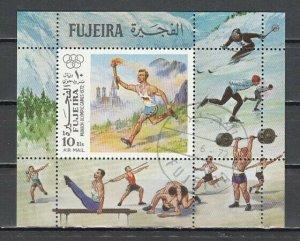 Fujeira, Mi cat. 1122, BL112 A. Summer Olympics s/sheet. C.T.O. ^