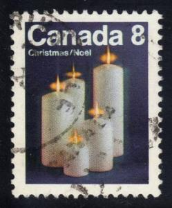 Canada #607 Candles, used (0.20)