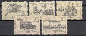Russia - Soviet Union - 1987 Postal History Sc# 5585/5589 - MNH (833N)