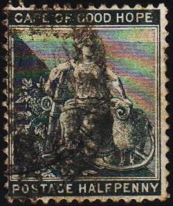 Cape of Good Hope. 1880 1/2d S.G.48. Fine Used