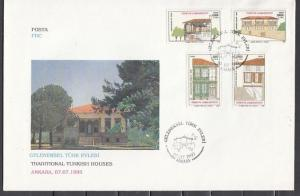 Turkey, Scott cat. 2631-2634. Traditional Houses issue. First Day Cover.
