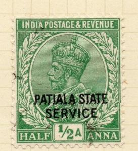 Indian States Patiala 1927-36 Early Issue Fine Used 1/2a. Optd 075638