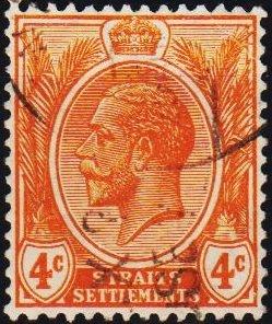 Malaya(Straits Settlements). 1919 4c S.G.224 Fine Used