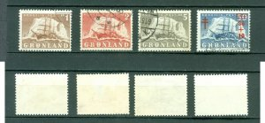 Greenland. Lot 4 Polar Ship Gustav  Holm  Cancel. Scott # 36-37-38-B1.