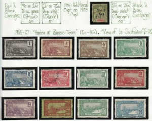 French Colonies Guadeloupe mint & used collection