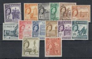 Malta QEII 1956 Set To 2s 6d SG266/279 MNH/MLH JK3936