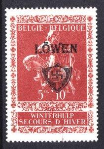 BELGIUM B341 WW2 LÖWEN OVERPRINT OG NH U/M VF BEAUTIFUL GUM