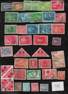Assortment of early Cuban stamps Lot 4A as pictured
