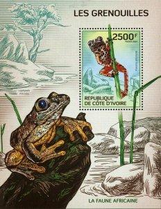 Frog Stamp Leptopelis Macrotis Kassina Arbonicola S/S MNH #1518 / Bl.190