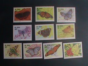 ST.KITTS-1997 SC# 439//50 -COLORFUL BEAUTIFUL LOVELY BUTTERFLY MINT SET VF