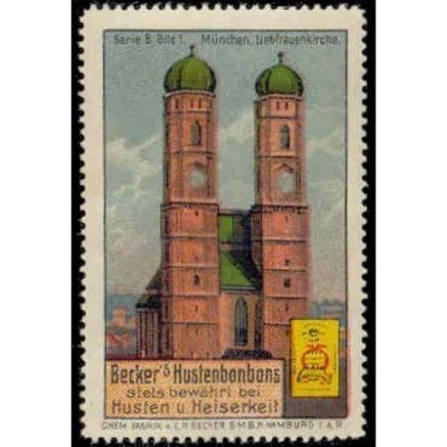 Germany - Becker's Hustenbonbons Adv. Poster Stamp