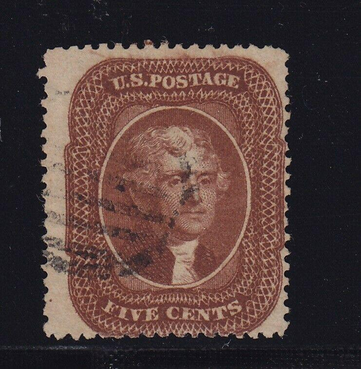 30A F-VF used neat light cancel with nice color cv $ 290 ! see pic !