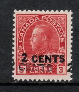Canada #139b Mint Fine Never Hinged Double Overprint **With Certificate**