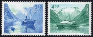 Norway Scott 1189-1190 MNH** Ship set