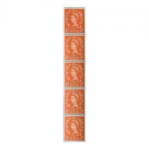 1/2d Orange Red Spec S5f Large Dot By Daffodil Flaw U/M