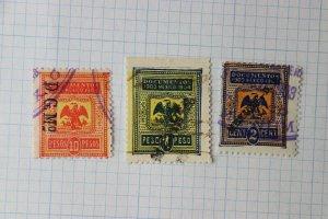 Mexico Revenue DO318 partial set 1903-1904 Documentary 10 1p pesos