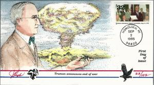 Beautiful Pugh Designed FDC WWII Truman Announces End of War  #23 of 102