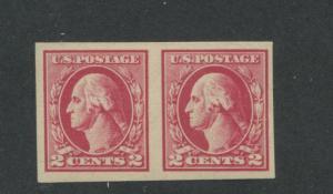 1920 US 2c Postage Stamp #532 Pair Mint Never Hinged Very Fine Original Gum