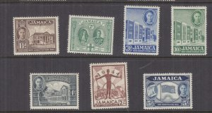 JAMAICA, 1945 New Constitution set of 7, lhm.