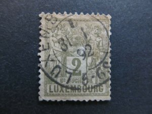 A4P26F9 Letzebuerg Luxembourg 1882 2c used