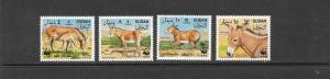 SUDAN-WILD ASS #460-463  WWF   MNH