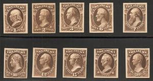#O72P4/#O81P4 Treasury Officials - Plate Proofs on Card