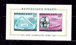 Haiti C165a MNH 1960 Olympics Imperf S/S