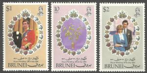 BRUNEI SCOTT 268-270