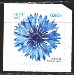 Estonia. 2021. 1008. Cornflower, flowers. MNH.