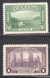Canada #244-245 VF LH C$180.00