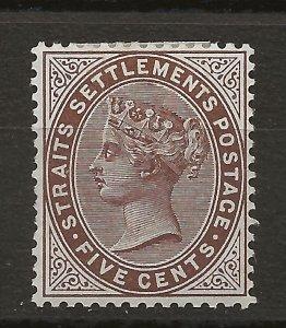 Straits Settlements 46 SG 99 MH VF 1894 SCV $17.50 (jr)